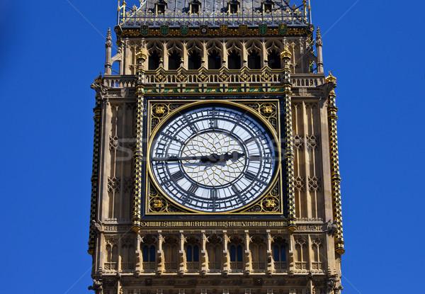 Big Ben Clock Face in London Stock photo © chrisdorney