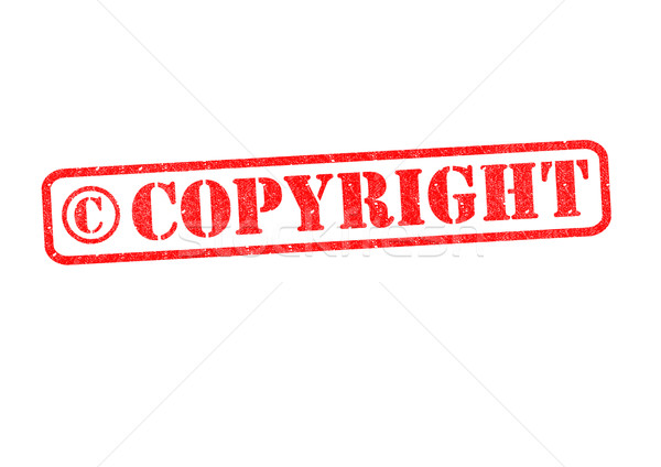 Direitos autorais branco segurança lei carimbo Foto stock © chrisdorney