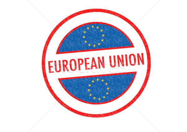 Europejski Unii biały podróży banderą Zdjęcia stock © chrisdorney