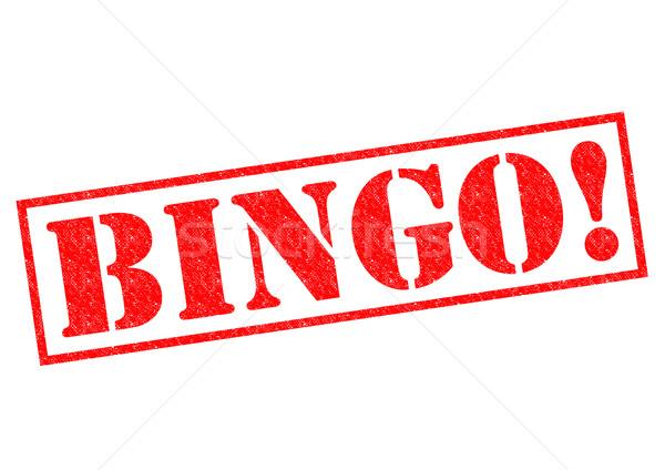 Bingo Rood witte brug casino Stockfoto © chrisdorney