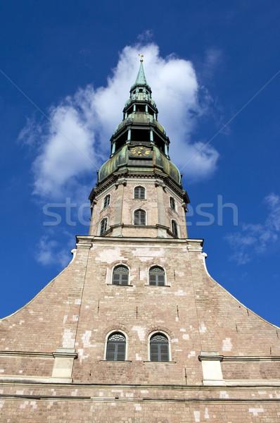 Церкви Рига великолепный Латвия статуя религии Сток-фото © chrisdorney