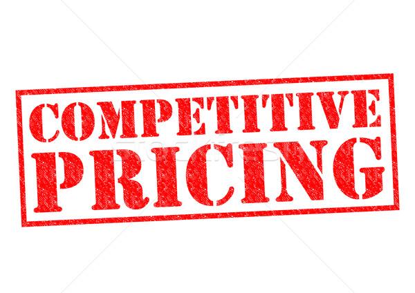 Konkurencyjny wycena czerwony biały ceny Zdjęcia stock © chrisdorney