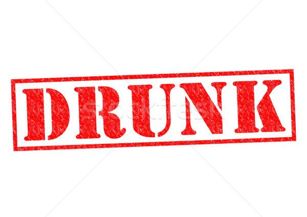 пьяный красный белый Бар прав Сток-фото © chrisdorney