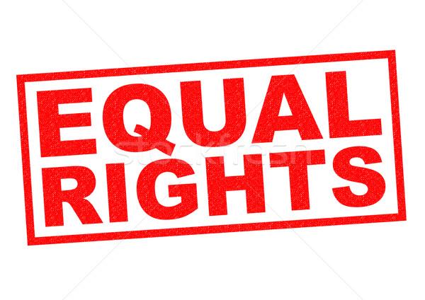 EQUAL RIGHTS Stock photo © chrisdorney