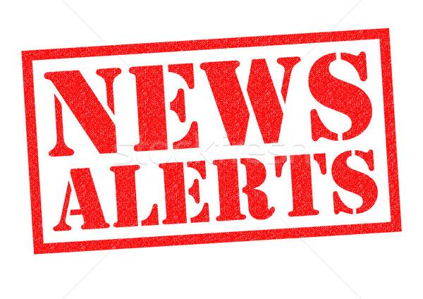 Notícia vermelho branco televisão rádio Foto stock © chrisdorney