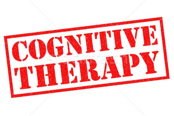 Cognitieve therapie Rood witte geneeskunde Stockfoto © chrisdorney