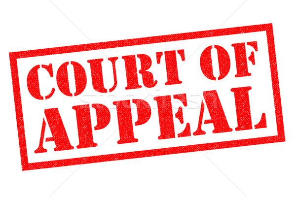 Sąd odwołać się czerwony biały przycisk Zdjęcia stock © chrisdorney