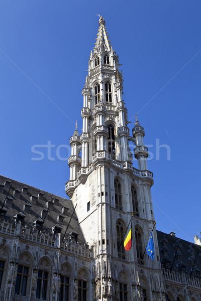 Brussel stad hal hotel plaats toren Stockfoto © chrisdorney