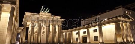 Brandenburgi kapu Berlin fenséges éjszaka építészet gyönyörű Stock fotó © chrisdorney