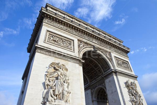 Arco do Triunfo Paris impressionante França viajar blue sky Foto stock © chrisdorney