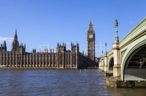 Houses of Parliament and Westminster Bridge Stock photo © chrisdorney