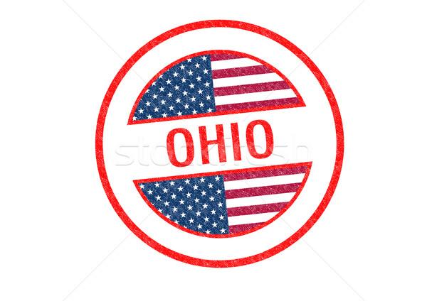 Stockfoto: Ohio · witte · vlag · vakantie · knop