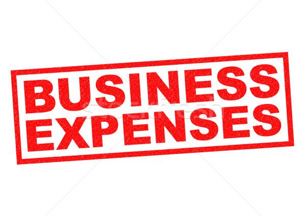 ビジネス 経費 赤 白 旅行 ストックフォト © chrisdorney