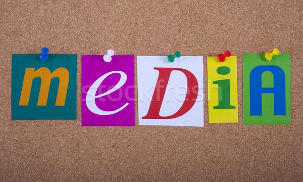 СМИ бизнеса интернет технологий радио Сток-фото © chrisdorney