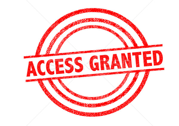 ACCESS GRANTED Rubber Stamp Stock photo © chrisdorney