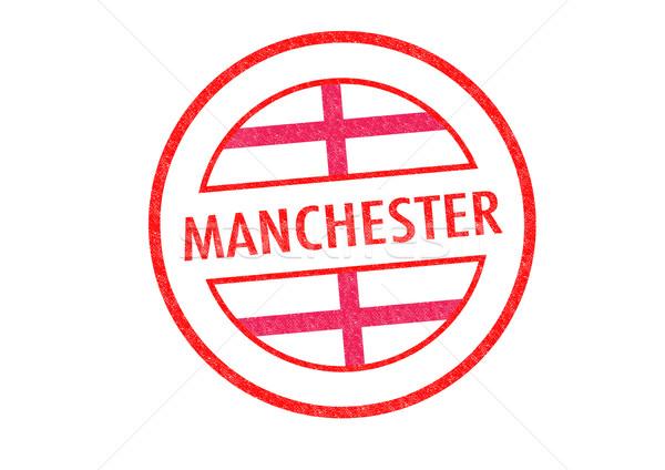 Manchester pecsét fehér vakáció gomb útlevél Stock fotó © chrisdorney