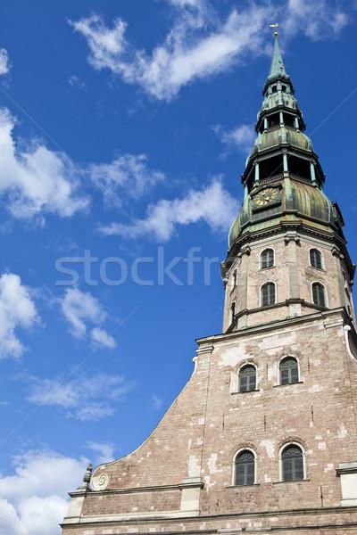 教会 リガ ラトビア 像 宗教 ストックフォト © chrisdorney