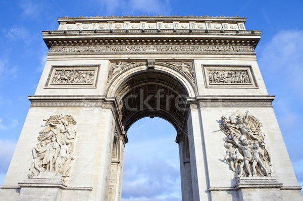Foto stock: Arco · del · Triunfo · París · impresionante · Francia · signo