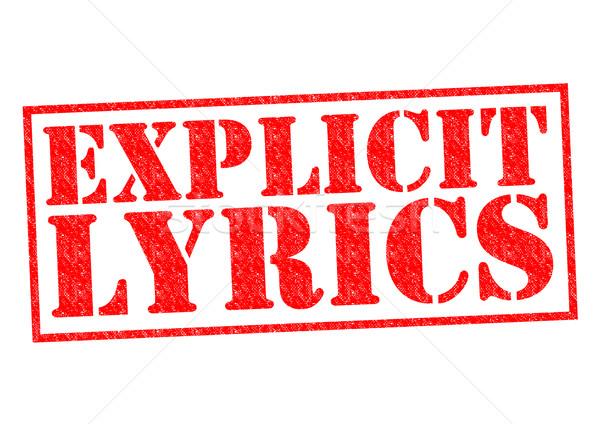 EXPLICIT LYRICS Stock photo © chrisdorney