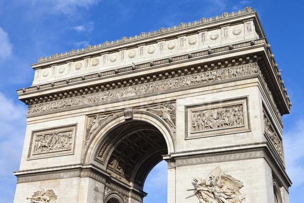 Arco del Triunfo París vista magnífico Francia viaje Foto stock © chrisdorney