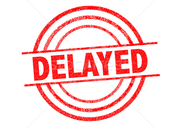 DELAYED Rubber Stamp Stock photo © chrisdorney