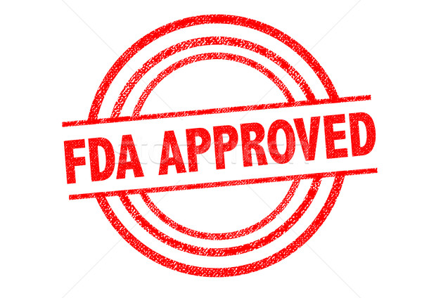 Stock photo: FDA APPROVED Rubber Stamp