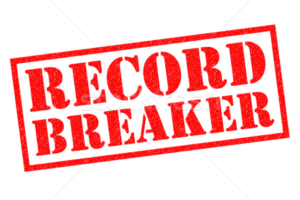 RECORD BREAKER Rubber Stamp Stock photo © chrisdorney