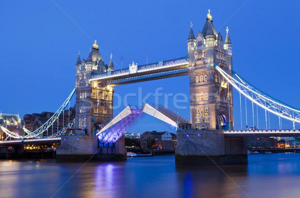 Tower Bridge at Dusk in London Stock photo © chrisdorney
