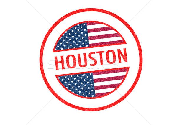 Houston pecsét fehér vakáció gomb útlevél Stock fotó © chrisdorney