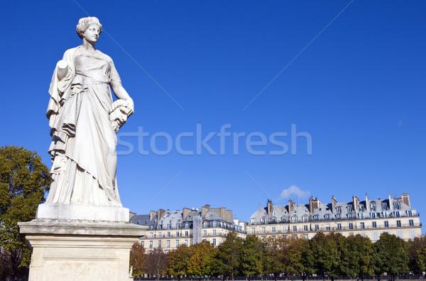 Photo stock: Statue · jardin · Paris · belle · Voyage · architecture