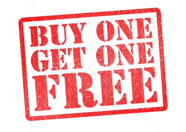 BUY ONE GET ONE FREE Rubber Stamp Stock photo © chrisdorney