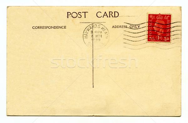 Klasszikus képeslap utazás ír levél kommunikáció Stock fotó © chrisdorney