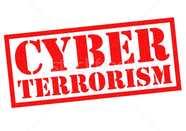 Terrorisme Rood witte technologie computers Stockfoto © chrisdorney