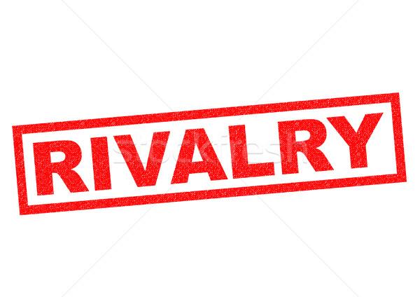 Rivaliteit Rood witte business achtergrond Stockfoto © chrisdorney