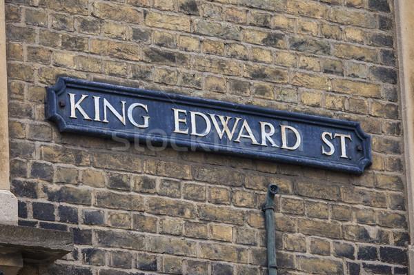 Rey calle oxford placa de la calle histórico ciudad Foto stock © chrisdorney