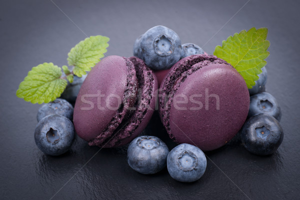 Blueberry macaroon Stock photo © ChrisJung