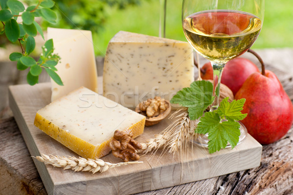 Wine and cheese Stock photo © ChrisJung