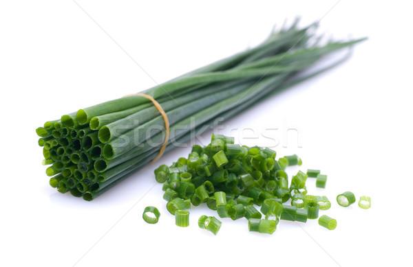 Fresco cebolinha verde vegetal colheita nutrição Foto stock © ChrisJung
