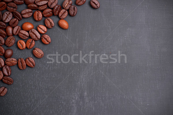Tableau noir grains de café Photo stock © ChrisJung
