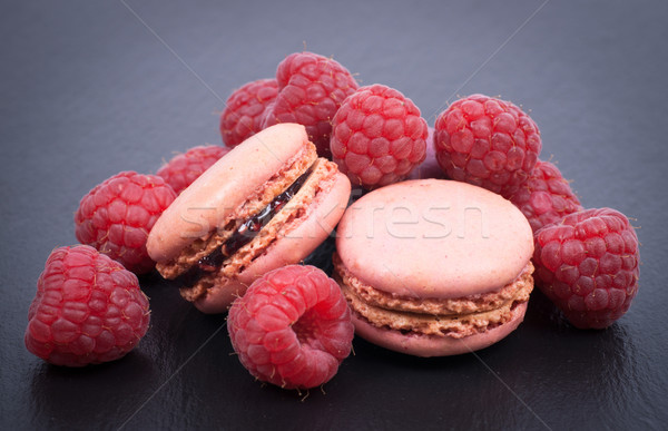 Raspberry macaroon Stock photo © ChrisJung