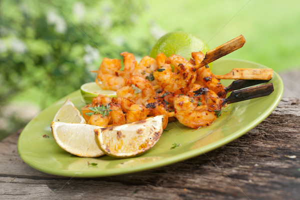 Stock photo: Grilled scampi