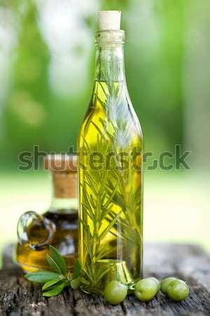 Aceite de oliva romero petróleo de oliva cocina saludable Foto stock © ChrisJung
