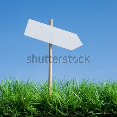 Szimbólum égbolt nyíl irányítás jó döntés Stock fotó © ChrisJung