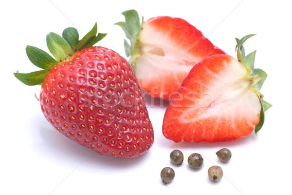 Strawberries, green pepper Stock photo © ChrisJung