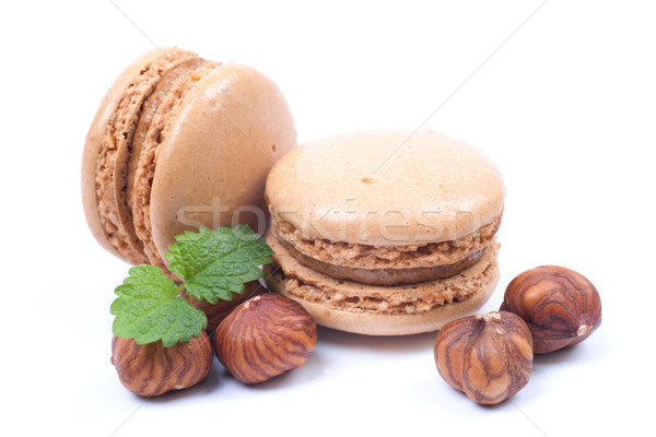 Hazelnut macaroon Stock photo © ChrisJung