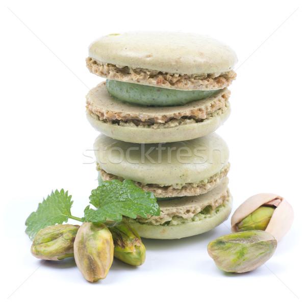 Photo stock: Pistache · gâteau · café · France · casse-croûte · délicieux