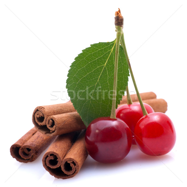 Cherries and cinnamon Stock photo © ChrisJung