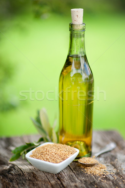 Linseed oil Stock photo © ChrisJung