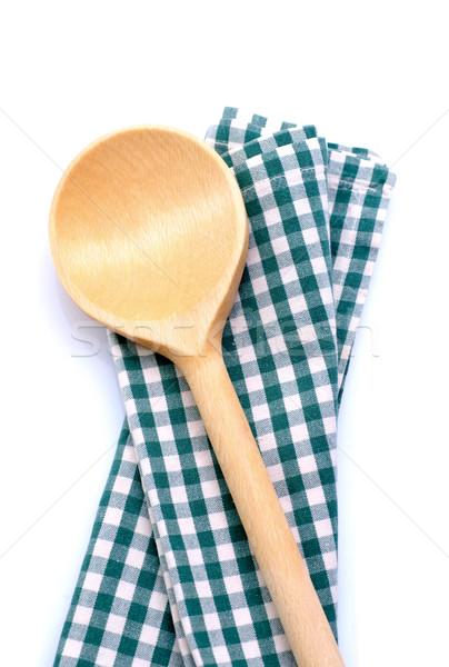 Legno cucchiaio bianco terra texture Foto d'archivio © ChrisJung