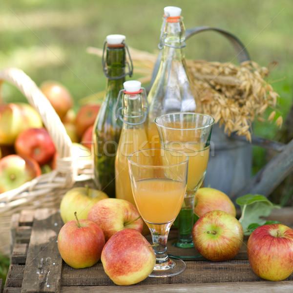 リンゴジュース 自家製 色 バスケット ラベンダー 香水 ストックフォト © ChrisJung